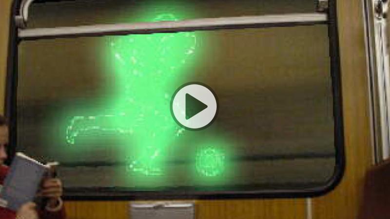 Lichtinstallation U-Bahn München
