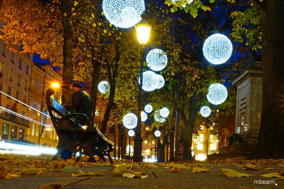 Weihnachtsbeleuchtung am Promenadeplatz, München